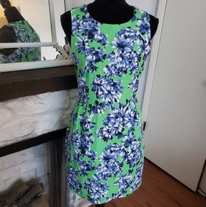 J. Crew green and blue floral dress. Size 6